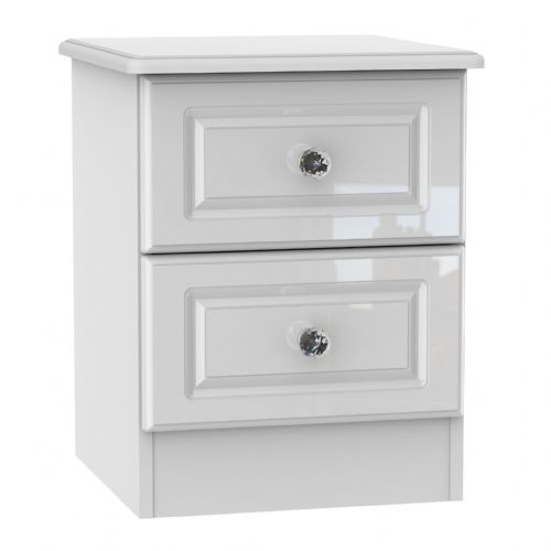 Balmoral White Gloss 2 Drawer Locker